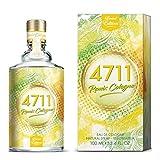 4711® Remix Cologne Zitrone I Eau de Cologne - fruchtig - spritzig - wild - die lebendige Frische der Zitrone sommerlich neu ge-remixt! I 100ml Natural Spray Vaporisateur