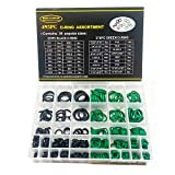 SAE Metric O Ring Kit Orings Assortment Kit 495 Pcs with o-Ring Pick & Installation Tools Rubber O-Ring Washer Gasket for Professional Plumbing, Automotive, Mechanic,Repairs (Black,Green)