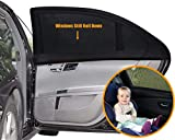Car Window Shade - (2 Pack) - 21'x14' Cling Sunshade for Car Windows - Sun, Glare and UV Rays Protection for Your Child - Baby Side Window Car Sun Shades