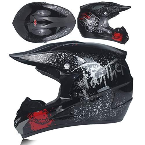 Qianliuk Casco Moto Casco capacete Motocross di Protezione Fuoristrada Motocross per Uomo e Donna