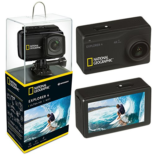 National Geographic Action CAM Explorer, 12, Pantalla de 2.45, 0.06, Color Negro, Explorer 4