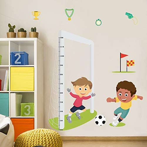 Régua de Crescimento Infantil Futebol