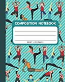 Composition Notebook: Yoga Cover 8x10' 120 Pages Wide Ruled Paper , Inspirational Journal & Doodle Diary , School Book Supplies