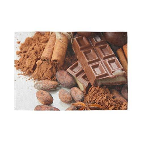 XiangHeFu Tafelmat Makkelijk schoon te maken Thuis Placemat Niet Slip 12x18inx1 Polyester Condiment Chocolade Snoepjes Hittebestendig