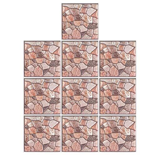 Asixxsix Etiquetas engomadas del azulejo, Papel Pintado, 10Pcs para el Dormitorio de la Sala de Estar