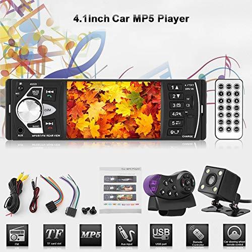Haofy Radio de Coche Estéreo Autoradio Bluetooth, 7 Colores Radio para Reproductor MP5 con 4.1