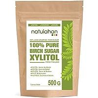 Natuiahan Xilitol 500Gr. Azúcar de Abedul de Finlandia. Edulcorante 100% Natural. Envase Sellado Autocierre