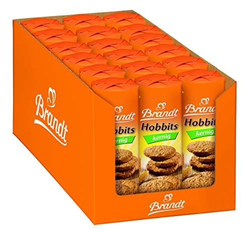 Brandt Hobbits Kernig - 18er Pack - Vorratskarton - ballaststoffreicher Vollkornkeks mit Haferflocken (18 x 250 g)