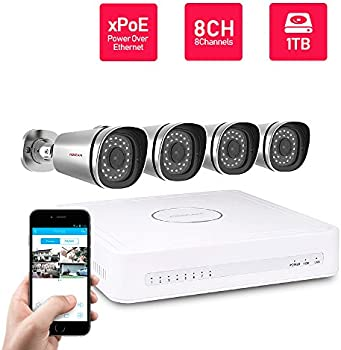 Foscam 8-Channel 720p NVR with 1TB and 4 Cameras