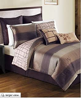 Victoria Classics Atwood 8 Piece Full Comforter Set Chocolate