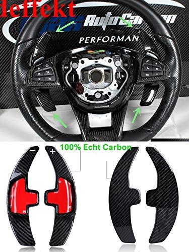 Voll Carbon echt Carbon Schaltpaddles Schaltwippen passend für Mercedes A B GLA C CLA GLC E GLE Klasse GLS AMG43
