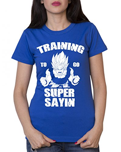 Train Super Sayin T-Shirt Goku Dragon Master Son Ballon Vegeta Turtle Roshi DB - Bleu - XXL