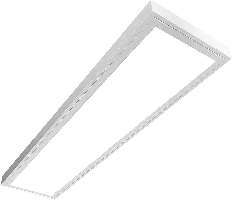 LED Panel LUNA 54W, LED Deckenleuchte, Anbau Leuchte, Prisma, (3x18W), 120cm, neutralwei (4000K), T8, LED Rasteranbauleuchte, Deckenleuchte, Büroleuchte, Bürobeleuchtung