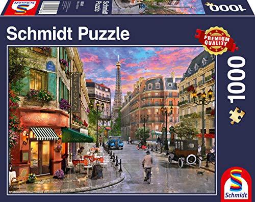 Schmidt Spiele 58387 Straße zum Eiffelturm, 1000 Teile Puzzle, Bunt