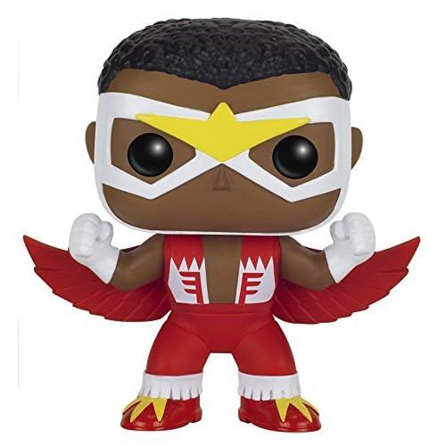 Funko- Comics Pop Bobble Marvel Falcon, 8681