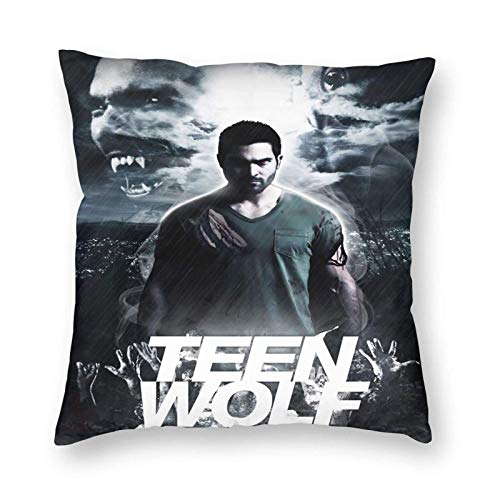 Throw Square Throw Pillow Cover/Funda de almohadaAlmohada Cuadrada Suave Teen-Wolf para Cama Sofá Sofá Coche 20 'X20'
