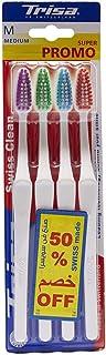 trisa swiss clean toothbrush medium 2+2 free - Made in Switzerland