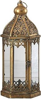 Outdoor Lantern Candle Lantern Wind Lamp Portable Lantern Garden Courtyard Decoration Outdoor Lanterns (Color : Metallic, ...