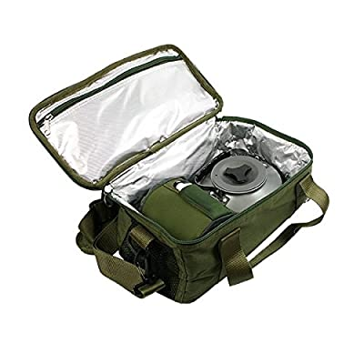 NGT Unisex 474 Carp Coarse Fishing Insulated Brew Kit Bag, Green, 35 x 17 x 13 cm by NGT