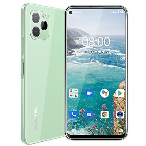 OUKITEL C21 Pro 2021 SIM フリー スマホ 本体 Android 11 最新スマホ デュアルSIM 4GB + 64GB 4000mAh スマートフォン21MPメインカメラ+2MPマクロ+0.3ブラー8MP AIフロントカメラ6.39インチの大画面 顔のロック解除、指紋認証 スマホ 本体 1年間の保証 (緑)