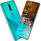 Dilwe1 6.7In Full HD Screen Unlocked Smartphone, 8+256GB Dual Cards Dual Standby Cell Phone, 13MP+24MP Built-in 4800mAh Battery for Android Phone Gree