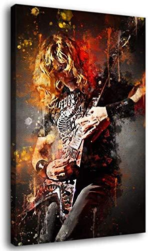 TANXM Lienzo De Impresión 60x80cm Sin Marco Póster artístico de Dave Mustaine...