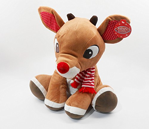 Rudolph, das Rentier mit der roten Nase, groß 35,6cm, Plüsch-Spielzeug