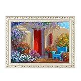 Kits de Pintura de Diamantes DIY 5D Diamante Pintura Sala Garden Cottage Pintura del Dormitorio de Punto de Cruz albañilería Etiqueta engomada del Diamante (Color : A, Size : 40x30cm)