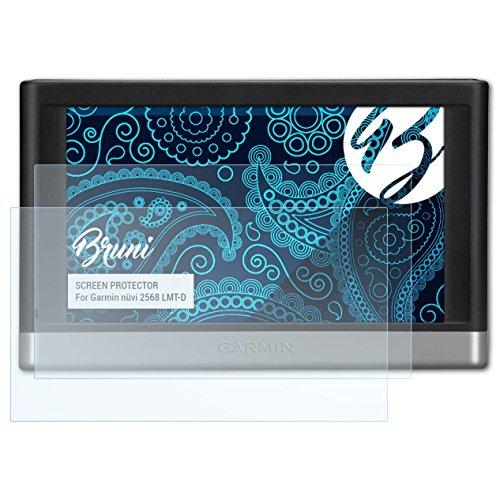 Bruni Schutzfolie kompatibel mit Garmin nüvi 2568 LMT-D Folie, glasklare Displayschutzfolie (2X)