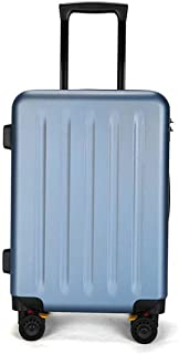 """SRY-Luggage PC Material Simple Trolley Case, Frosted Luggage, Roller Walking Rolling Box, 20"""" 24"""" inches Durable Carry on Luggage (Color : Blue, Size : 20inch)"""