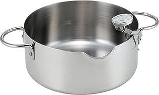 下村企販 揚げ鍋 20cm 油をきれいに注げる 温度計付 日本製 35480