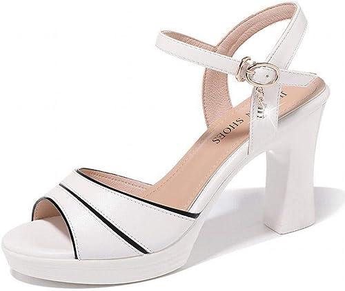 LTN Ltd - sandals Sandalias Impermeables de plataforma, blanco, 34
