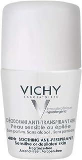 Desodorante Peles Sensíveis Roll on 48H 50ml, Vichy, Branco