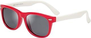 LianSan - Gafas de sol polarizadas de goma para niños, 100 % protección UV 400, irrompibles, flexibles, seguridad para bebés, niños, niñas, jóvenes, niños de 3 a 12 años