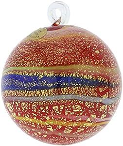 GlassOfVenice - Bola de Cristal de Murano (tamaño Mediano), Color Rojo