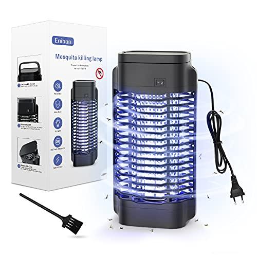 Enibon Lámpara Antimosquitos Eléctrico UV 18W, LED Matamoscas Eléctrico 4000V, Mosquito Lámpara...