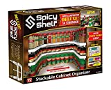 Spicy Shelf Deluxe - Expandable Spice Rack and Stackable Cabinet &...