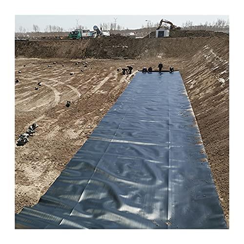 SHIJINHAO Trwała folia do stawu, oczka wodnego HDPE, odporna na działanie promieni UV, odporna na rozerwanie, używana do stawów rybnych, fontann strumieniowych, ogrodów wodnych (kolor: czarny, rozmiar: 2 x 4,5 m)