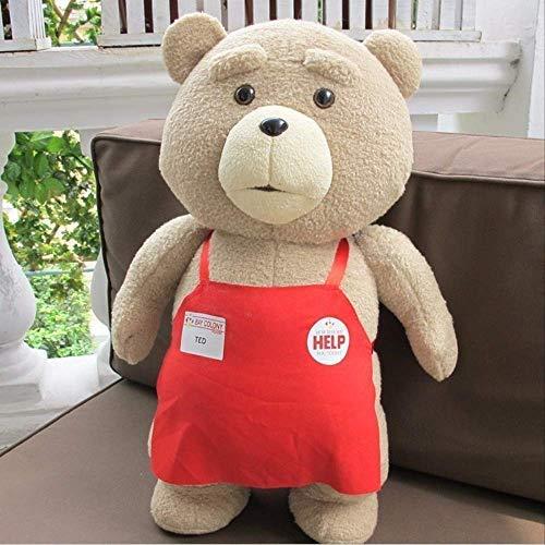 TOPCOMWW 45cm Movie Teddy Bear Plush Ted Plush Toys In Apron Soft Stuffed Animals Plush Birthday