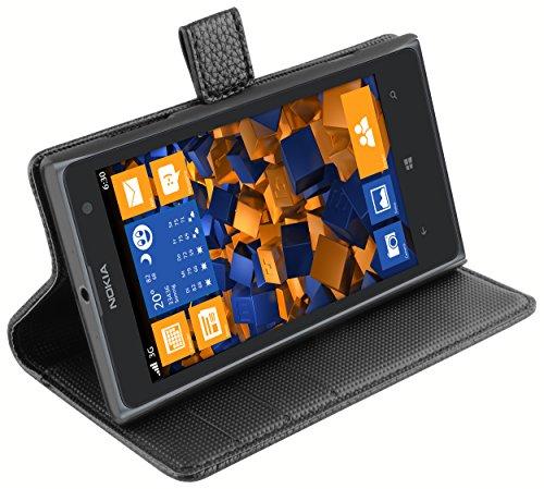 mumbi Tasche Bookstyle Case kompatibel mit Nokia Lumia 1020 Hülle Handytasche Case Wallet, schwarz