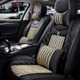 Rzj-njw PU Cubiertas de Asientos de Cuero para los Modelos Volkswagen VW Passat del Polo B6 B7 B8 Golf 5 6 7 Touran Tiguan Jetta Coche,Beige