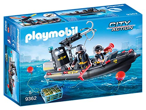 PLAYMOBIL City Action Lancha Fuerzas Especiales, Flotante