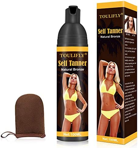 Self Tanner Self Tanner Mousse Self Tanner With Mitt Self Tanner For Face Tanning Lotion Sunless product image