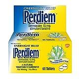 Perdiem Sennosides Stimulant Laxative Pills, Overnight Relief, 60-Count Bottles (Pack of 2) by Perdiem