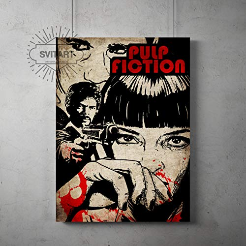 Pulp fiction Poster, Tarantino Pulp fiction Print, Pulp fiction wall decor, All Prints avialable in 9 SIZES and 3 type of MATERIALS