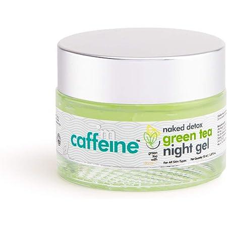 mCaffeine Naked Detox Green Tea Night Gel   Hydration   Vitamin C, Hyaluronic Acid   All Skin Types   Paraben & Mineral Oil Free   50 ml