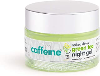 mCaffeine Naked Detox Green Tea Night Gel | Hydration | Vitamin C, Hyaluronic Acid | All Skin Types | Paraben & Mineral Oi...