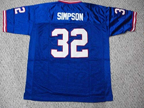 Unsigned O.J. Simpson #32 Buffalo Custom Stitched Blue Football Jersey Various Sizes New No Brands/Logos (S)
