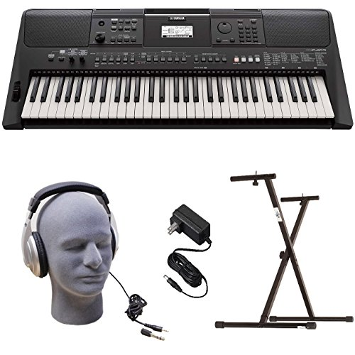 Read About Yamaha PSR-E463 PKY Premium Keyboard Pack with Power Supply, Bolt-On Stand, and Headphone...