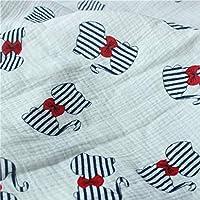 ダブルガーゼ 生地 コットン100% 2層ガーゼ 綿 可愛い 柔らかい 通気性 吸湿性 布 DIY 手芸 手作り 縫製 子供用 大人用